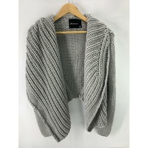 Olivaceous Women's Chunky Knit Cardigan Gray Small